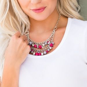 Jewelry - Pink, silver, and gray necklace